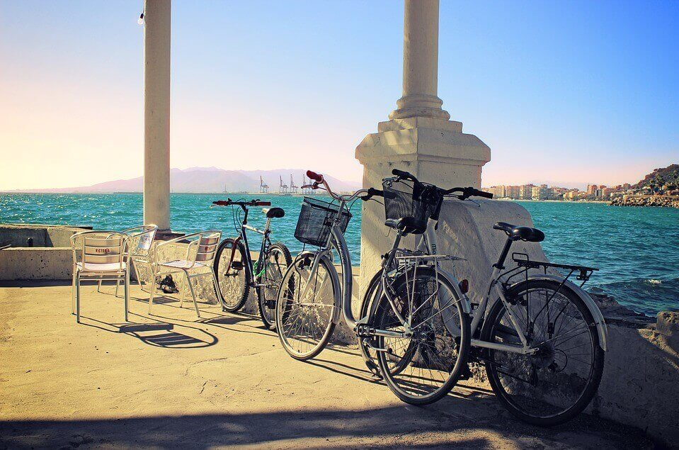 Bike rental picture on Malaga